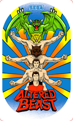 Altered Beast Video Arcade Side Art