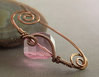 Rose Square Crystal Brass Shawl Pin