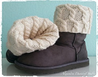 UGG Hug Boot Toppers - KIT(Free Ravelry Pattern)