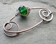 Brass Fibula Shawl Pin