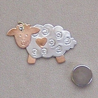 Magnetic Shawl Pin - Bo-Peep Sheep