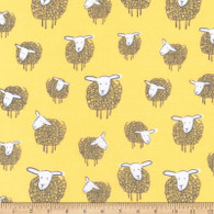 Box Bags - Clear Deja Vue - Yellow Wooly Sheep