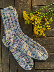 Vanilla Latte Socks  - KIT ( Free Ravelry Pattern)