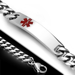 9mm Stainless Steel Quality Medical ID Bracelet
