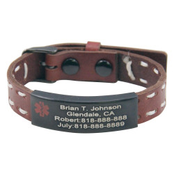Engraved Medical ID Bracelet
