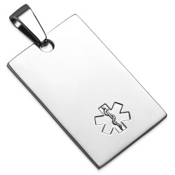 Personalized Stainless Steel Quality Medical Alert ID Tag Charm Pendant