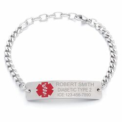 Personalized Stainless Steel Quality Medical ID Bracelet