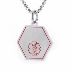 Personalized Quality Medical ID Pendant with Chain