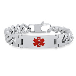 Personalized Stainless Steel Quality Medical ID Bracelet- Free Engraving