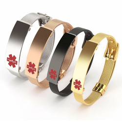 Personalized Quality Adjustable Stainless Steel Medical ID Bracelet