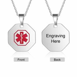 Quality Personalized Stainless Steel Medical ID Pendant Necklace