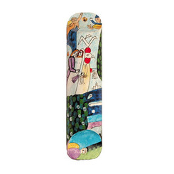 Bride & Groom Small Painted Wooden Mezuzah Case By Yair Emanuel