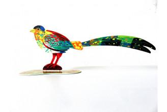 Generous Bird Sculpture (Double Sided) By David Gerstein