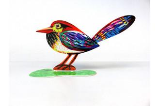 Musical Bird Sculpture (Double Sided) By David Gerstein