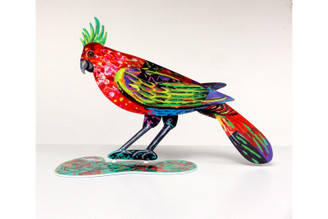 Stylish Bird Sculpture (Double Sided) By David Gerstein