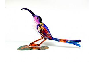 Curious Bird Sculpture (Double Sided) By David Gerstein