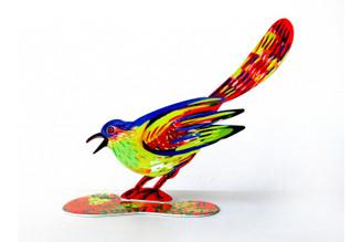 Friendly Bird Sculpture (Double Sided) By David Gerstein