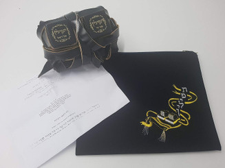 High Quality Tefillin for LEFT Handed Ashkenazic Jewish Kosher Tefilin Ashkenaz + bag
