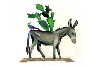 Israeli Donkey Sculpture By David Gerstein