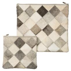 Exclusive Cow Leather Tallit + Tefillin Bag 100% Natural Skin Damka model
