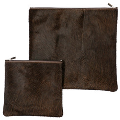 Exclusive Cow Leather Tallit + Tefillin Bag 100% Natural Skin Brwon