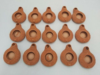 15X New HERODIAN OIL LAMP Ancient Biblical Antique Replica Israel Jewish Judaica