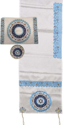 Tallit For women Traditional Jewish Prayer Shawl Embroidered With Pomegranates ,100% Kosher from Israel include bag  kippah