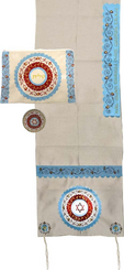 Tallit For women Traditional Jewish Prayer Shawl Embroidered With Pomegranates Kosher from Israel include bag kippah