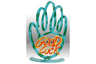 Good Luck Hamsa Sculpture Laser Cut Steel By David Gerstein