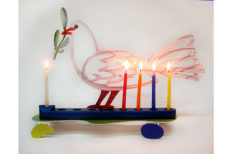Dove Hanukkah Menorah (Double Sided) By David Gerstein