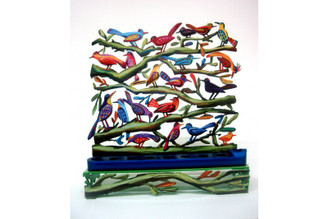 Twitters Hanukkah Menorah Birds (Double Sided) By David Gerstein