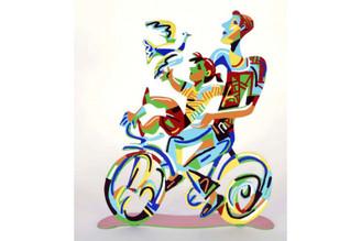 Weekend Ride Sculpture By David Gerstein