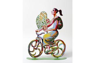 Rider With Flowers Sculpture By David Gerstein