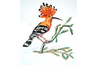 Hoopoe Bird Sculpture ( Double Sided ) By David Gerstein