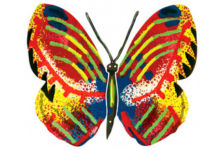 Tsiona Butterfly ( Wall Hanging ) By David Gerstein