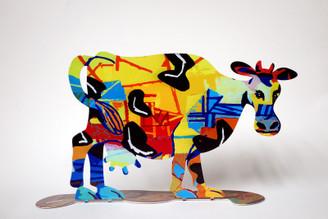 Hulda Cow Sculpture By David Gerstein