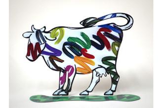 Nava Cow Sculpture By David Gerstein