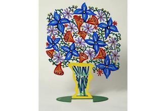 Bell Flowers Vase Sculpture By David Gerstein