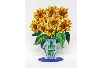 Sunflowers Sculpture By David Gerstein