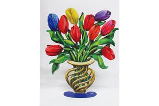 Abstract  Flowers Big Tulips Sculpture By David Gerstein