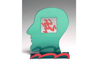 Head With Runner Head Sculpture By David Gerstein