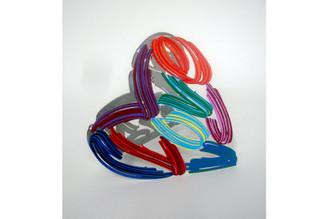 Strokes of Love Heart Sculpture By David Gerstein
