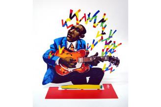 Guitarist Sculpture By David Gerstein
