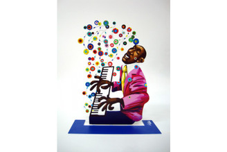 Pianist-jazz Pianist Sculpture By David Gerstein