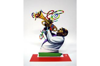 Trumpeter - jazz Trumpet Player Sculpture By David Gerstein