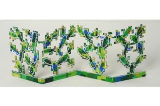 Digital Cactus Sculpture By David Gerstein