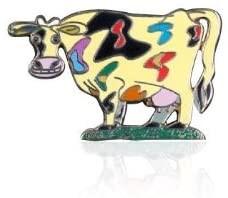 Cow Brooch By David Gerstein