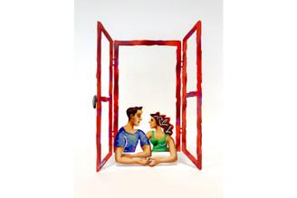 Hand In Hand Window Sculpture By David Gerstein