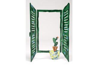 Cactus Window Sculpture By David Gerstein