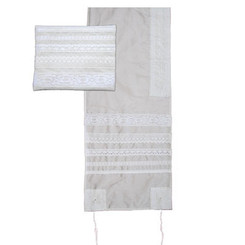 Lace Embroidered Tallit By Yair Emanuel